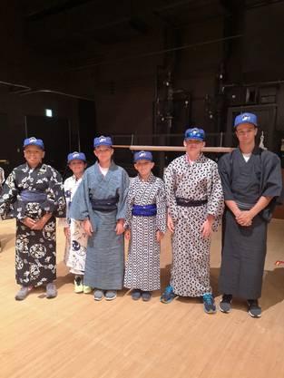viel japanische Kultur im Camp - hier im Kimono