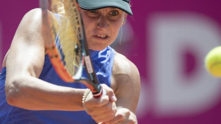 Jil Teichmann schied am WTA-Turnier in Gstaad in 61 Minuten aus