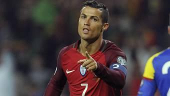 Vierfacher Torschütze: Portugals Cristiano Ronaldo