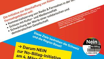 Flyer des Basler Komitees gegen No Billag