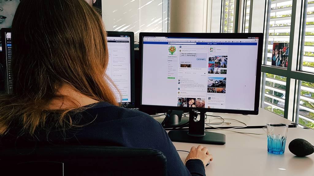 Hacker toben sich auf dem Facebook-Profil der Stadt Amriswil aus.