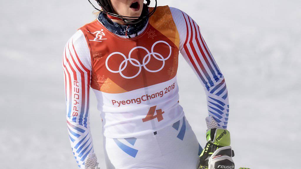 Saison-Dominatorin Mikaela Shiffrin verpasste im olympische Slalom als Vierte überraschend eine Medaille