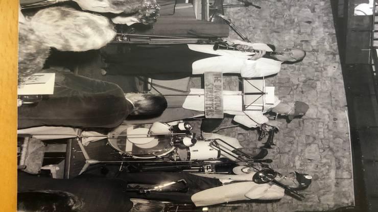 Trompeter Lukas «Cheese» Burckhardt (Mitte) mit seiner Band The Darktown Strutters im «Atlantis».
