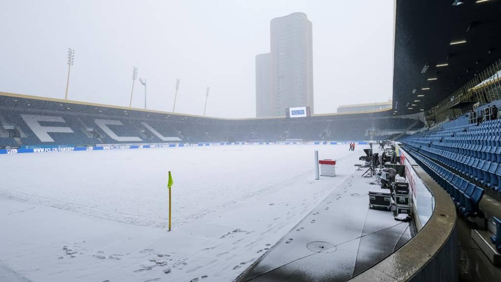 Wegen Schnee: FCL gegen YB abgesagt