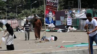 Aufräumen nach den Unruhen in Kairo