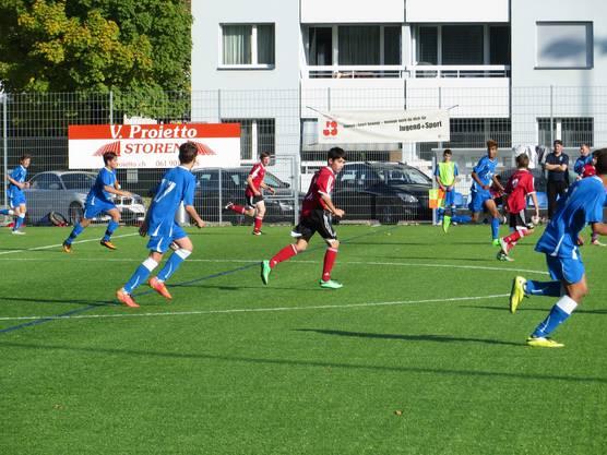 Ein Meisterschaftsspiel  FC Frenkendorf - SV Muttenz Junioren C.