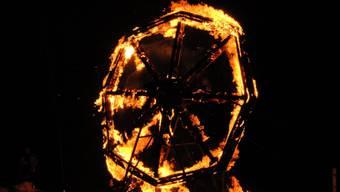 Feuerrad am Scheibensprengen in Oeschen