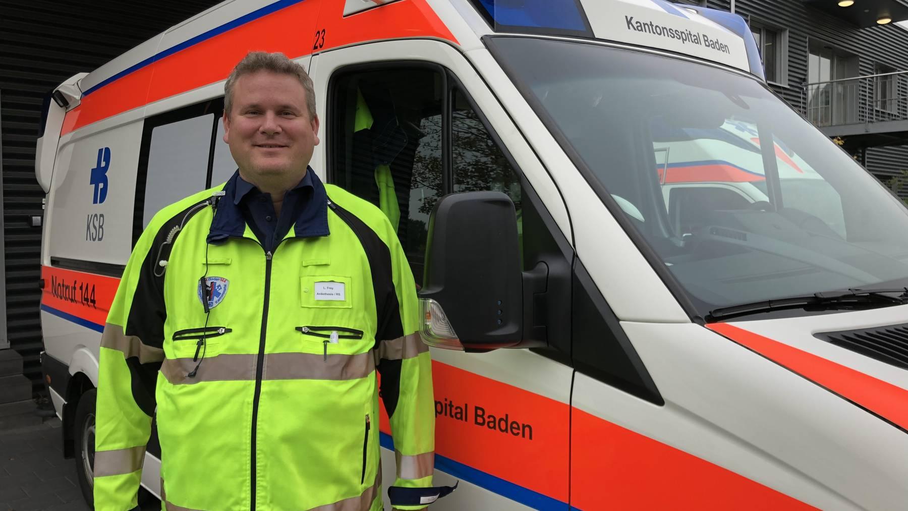 Lukas Frey, Notfalldienst Kantonsspital Baden
