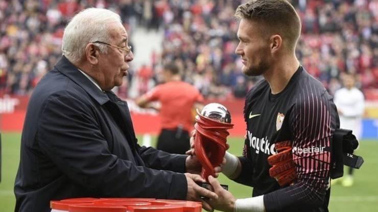 Tomas Vaclik wurde im November 2018 als bester Spieler der spanischen Liga ausgezeichnet.