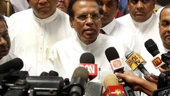 Staatspräsident Maithripala Sirisena kündigte an, die Führungen der Polizei und anderer Sicherheitskräfte auszutauschen. Hinweise auf Anschlagspläne seien nicht an die Regierung weitergegeben worden.(Archivbild)