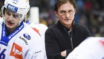 Trainer Arno Del Curto musste mit den Lions bei seinem langjährigen Klub Davos leiden