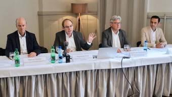 Werner Kübler, Raymond Cron, Robert-Jan Bumbacher und Peter Eichenberger (v.l.)