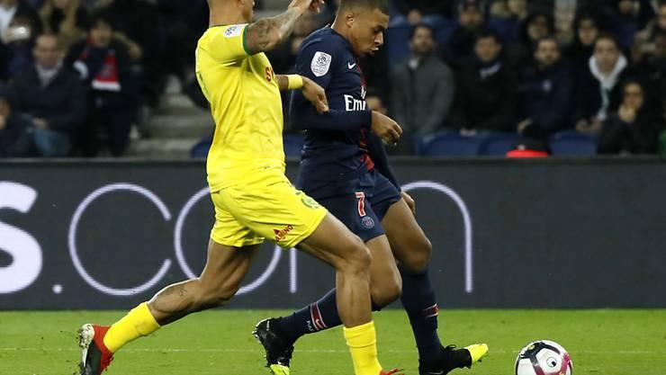 Kylian Mbappé schoss den Siegtreffer für Paris Saint-Germain beim Heimsieg gegen Nantes