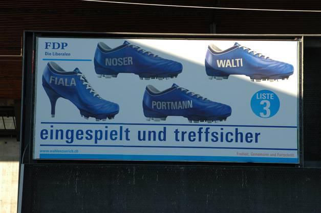 Die FDP wirbt mit neuen Schuhen