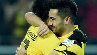 Ilkay Gündogan (r.) schoss die Dortmunder zum 1:0-Heimsieg