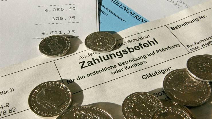 488 juristische und private Personen im Kanton Solothurn gingen 2015 wegen Zahlungsunfähigkeit in Konkurs. Archiv