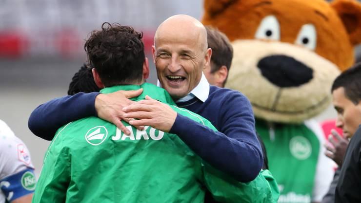 """Der FC St. Gallen will in der neuen Saison einen Schritt nach vorne machen. """"Wir wollen angreifen"""", sagt Trainer Peter Zeidler"""