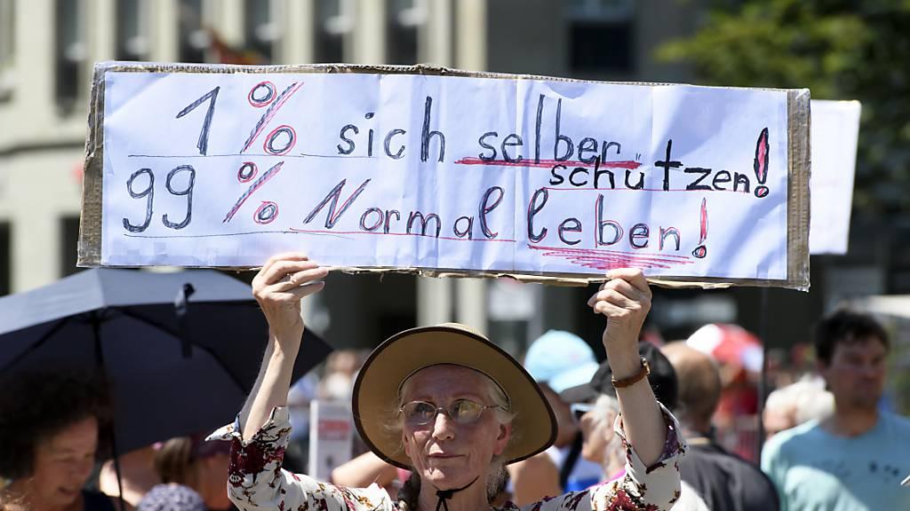 Grosses Polizeiaufgebot wegen Kundgebungen in Bern