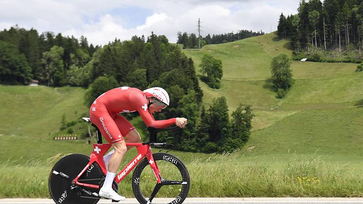 Stefan Küng peilt an der Tour de Suisse am Auftakttag den Sieg im Einzelzeitfahren an
