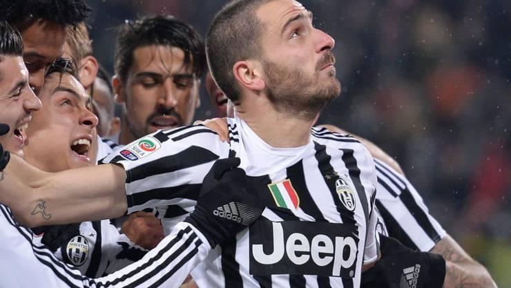 Brachte Juventus Turin mit dem 1:0 kurz nach der Pause auf Kurs: Verteidiger Leonardo Bonucci (rechts)