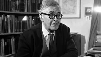 Theologie-Professor Karl Barth (1886-1968) dozierte ab 1935 an der Universität Basel, aufgenommen 1962 in Basel.