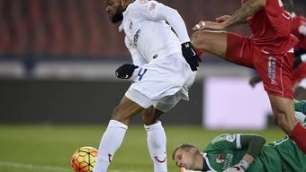 Treffsicher im Dress des FCZ: Franck Etoundi (links)