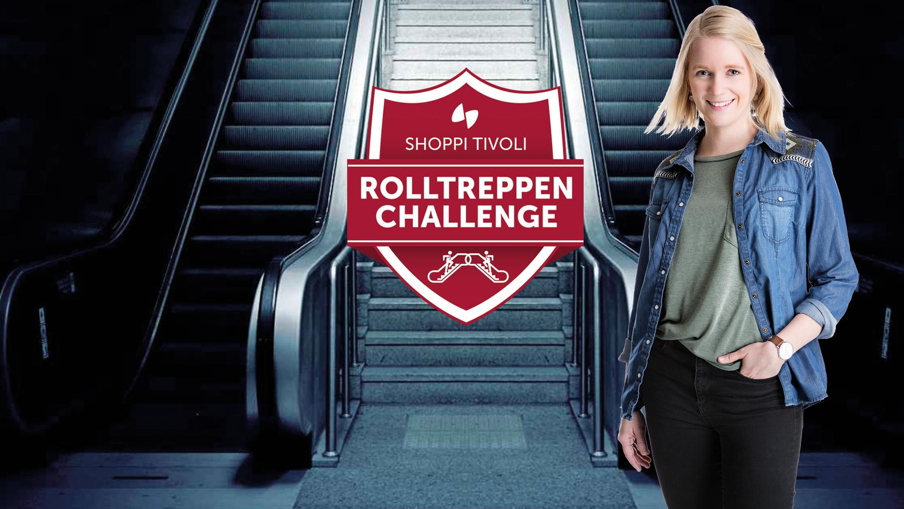 Rolltreppen Challenge mit Sonja