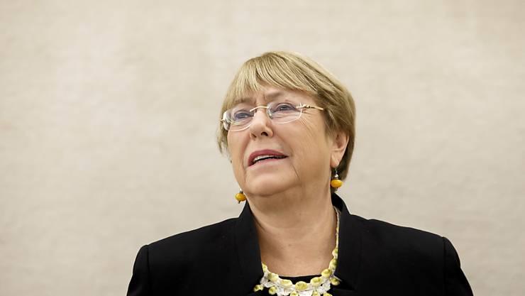 Die Uno-Hochkommissarin für Menschenrechte, Michelle Bachelet, am Montag in Genf bei der Eröffnung der dreiwöchigen Session des Menschenrechtsrates.