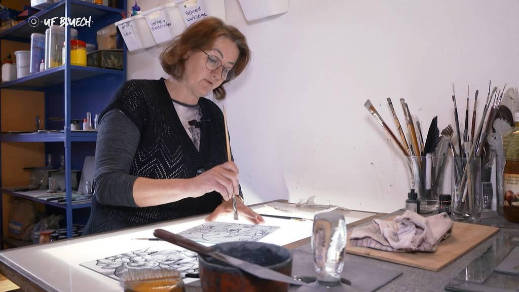 «Uf Bsuech» bei der Glasmalerin Antoinette Liebich
