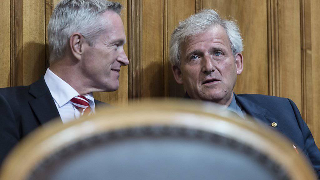 Sie werden weiterhin den Kanton Bern im Ständerat vertreten: Werner Luginbühl (BDP) und Hans Stöckli (SP).
