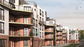 In der vom Zürcher Stadtrat geplanten Siedlung Hornbach kosten 4,5 Zimmer pro Monat 1670 Franken.Visualisierung zvg