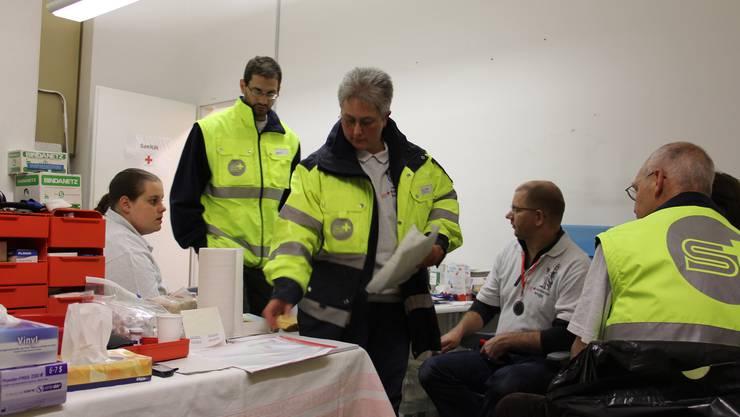 Die Samaritervereine sind an fast jedem Grossanlass im Einsatz. Hier am Stadtfest im Jahr 2013 in Brugg. (Archiv)