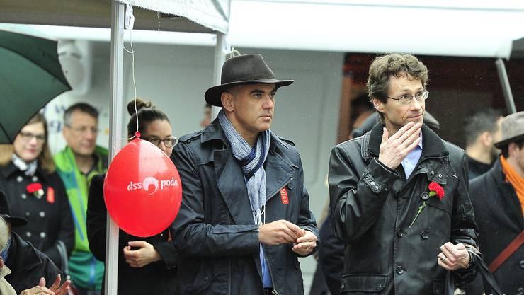 Bundesrat Alain Berset an der 1.-Mai-Feier in Aarau