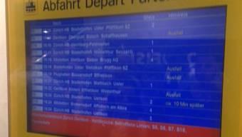 Im Grossraum Zürich fallen diverse Züge aus.