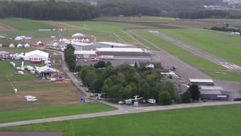 Der Flugplatz Birrfeld aus der Luft