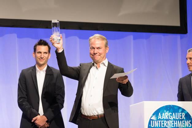 """Marcel Bieri (Jura-Cement), Gewinner in der Kategorie """"Industrie- und Produktionsunternehmen""""."""
