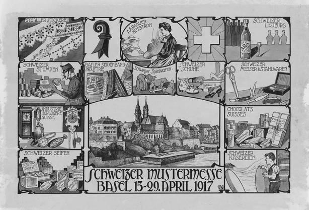 1917: Faltprospekt zur ersten Schweizer Mustermesse