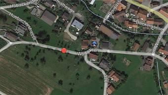 Hier werden Werkleitungen verlegt: Wolfgarten im Mettauertaler Ortsteil Wil. – Quelle: Google