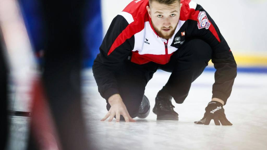 Schweizer Curler bei ihrem Debüt im EM-Final