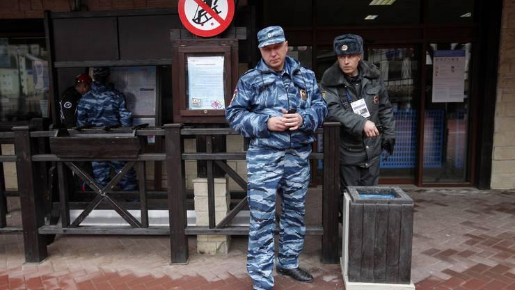 Russische Sicherheitskräfte in der Region Sotschi