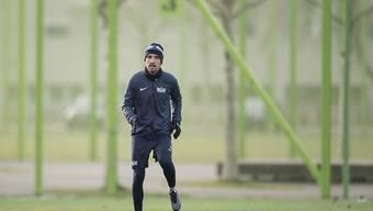 Denis Popovic beim Trainingsauftakt des FC Zürich im Januar.