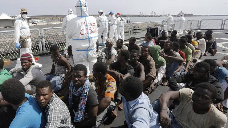 120 Flüchtlinge wurden gerettet und sind nun im Hafen von sizilianischen Catania.