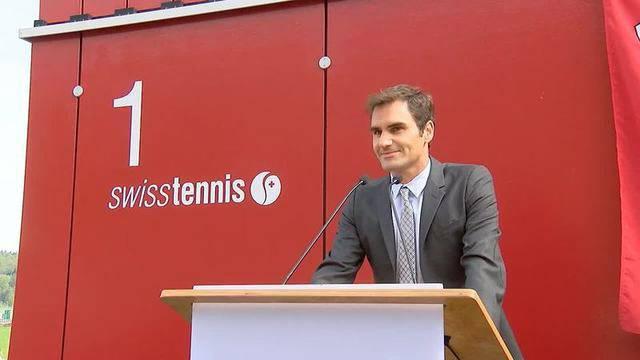 Roger Federer weiht in Biel seine eigene Allee ein