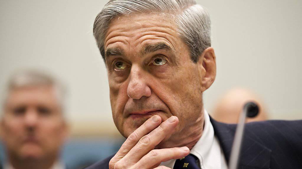Will US-Präsident Donald Trump nicht Anklagen: der Sonderermittler in der Russland-Affäre, Robert Mueller. (Archivbild)