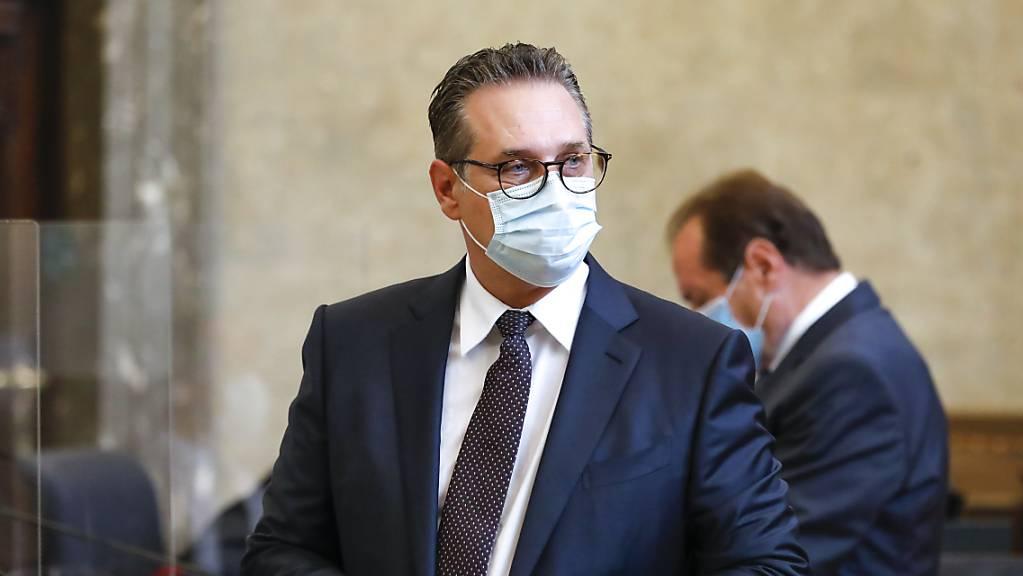 Kurz vor der Vertagung hatte die Staatsanwaltschaft die Anklage gegen Österreichs Ex-Vizekanzler Heinz-Christian Strache erweitert.