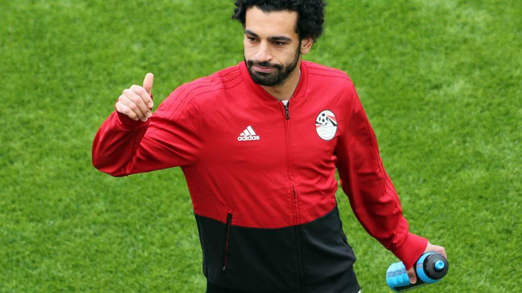 Ägyptens Starspieler Mohamed Salah wird das zweite WM-Spiel bestreiten können