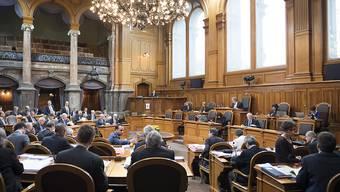 Rechnen im Ständeratssaal: Die kleine Kammer berät am Montagnachmittag den Bundeshaushalt für das Jahr 2019.