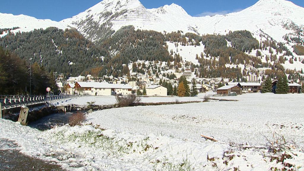Davos sah am Montag den ersten Novemberschnee in diesem Jahr