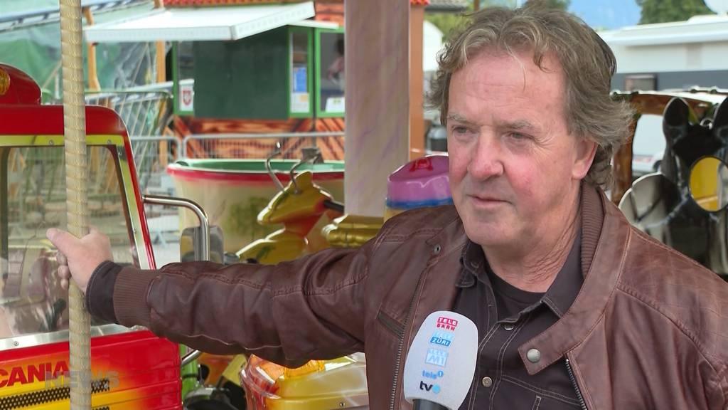 Corona-konformer Luna Park in Thun: Chilbi-Schausteller trotzen Regenwetter