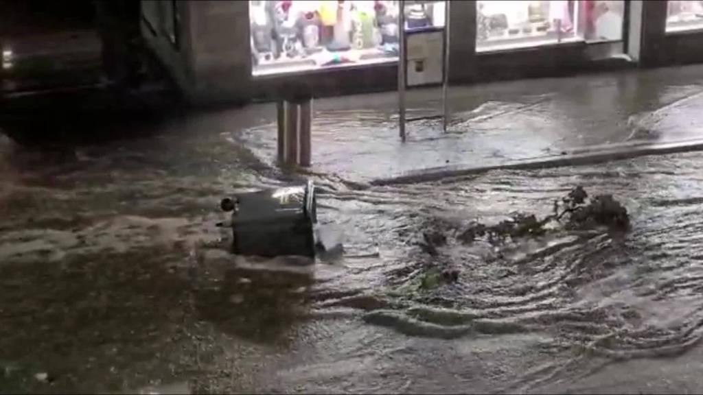 Sturmtief Bernd: Unwetter wütet in Zürich am heftigsten